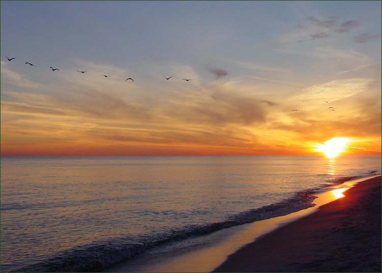 Sunset on the Gulf of Mexico... Gulf Shores Alabama.