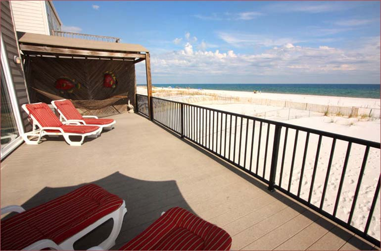 Stunning views of the gulf of mexico right from your own private deck and beach access